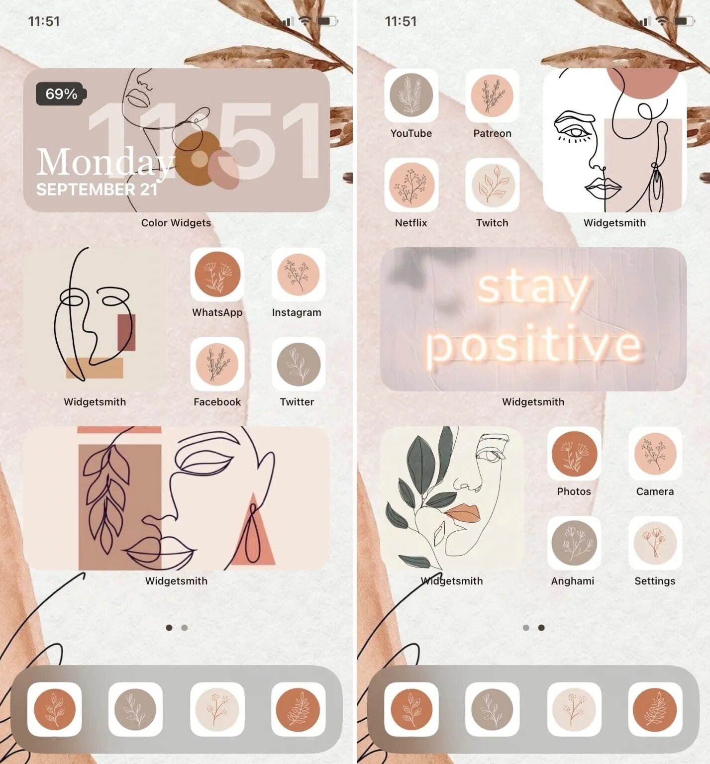An Earth tone theme for a soft yet classy look