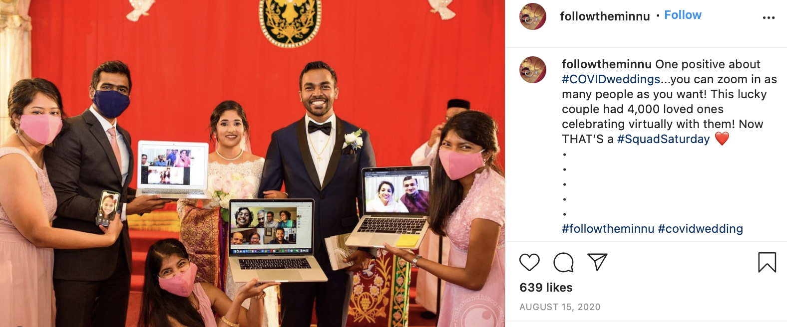 virtual wedding party