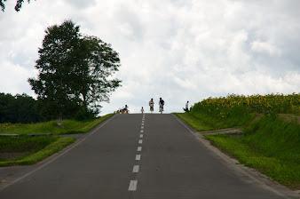 丘のサイクリング