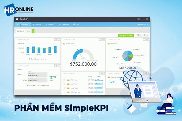 Giao diện phần mềm SimpleKPI