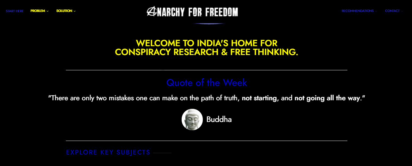 Anarchy for Freedom Website