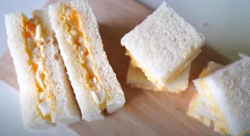 1. แซนด์วิชสลัดไข่ต้ม