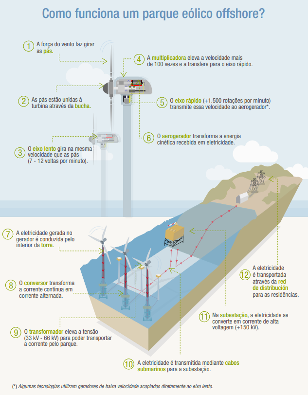 gráfico explicativo sobre energia eólica offshore