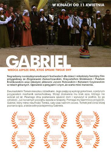 Tył ulotki filmu 'Gabriel'