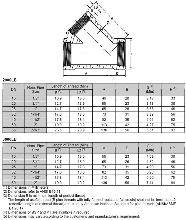 asme-b16-11-45degree-lateral-tee-dimension