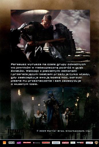 Tył ulotki filmu 'Starcie Tytanów'