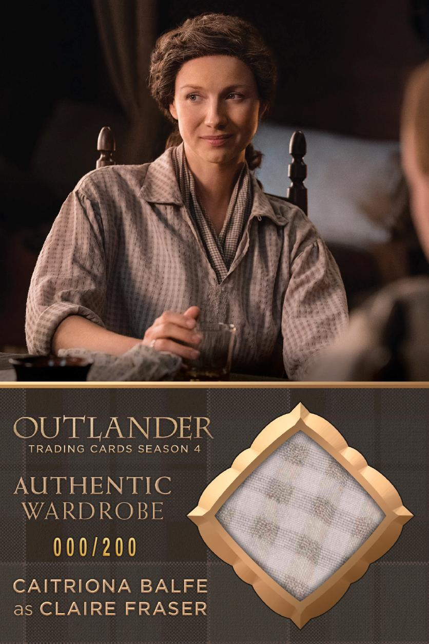 Outlander Trading Cards Season 4: Oversized Convention Wardrobe Card OS01