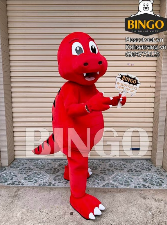 Mascot Khủng long đỏ 01
