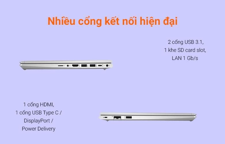 Laptop HP ProBook 440 G8-342H3PA (i5-1135G7) (Bạc)   Cổng kết nối đa dạng