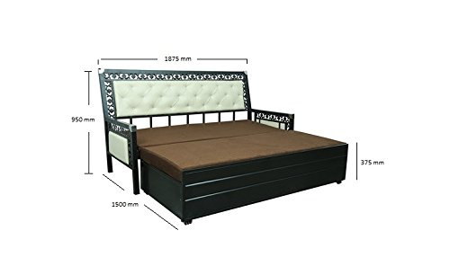 Royal Queen Size 3 Seater hydraulic storage Sofa Cum Bed