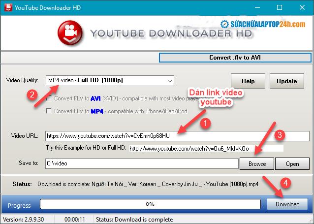 Hướng dẫn sử dụng YouTube Downloader HD
