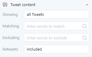 tweet content