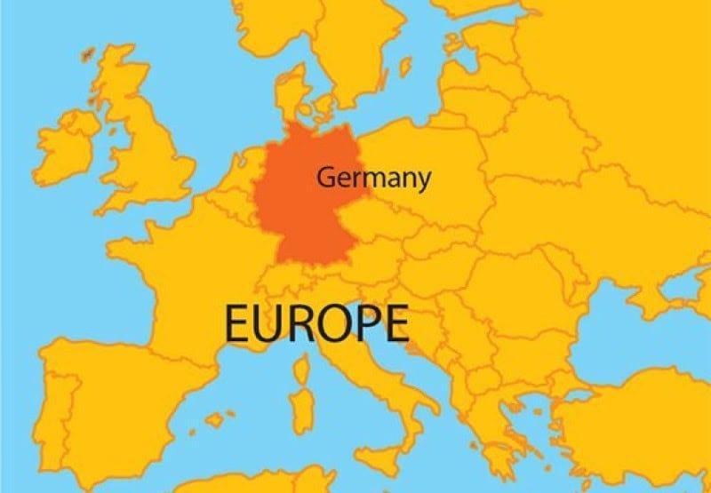 Tổng quan về nước Đức: Nước Đức thuộc châu Âu và giáp nhiều quốc gia