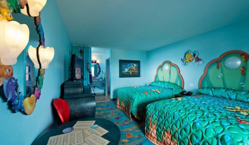 Hotéis em Orlando | Quarto inspirado na pequena seria do hotel Disney's Art Of Animation