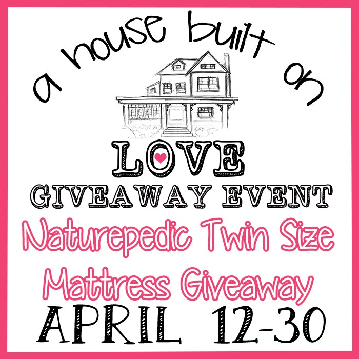 Enter the Naturepedic Twin Size Mattress Giveaway. Ends 4/30