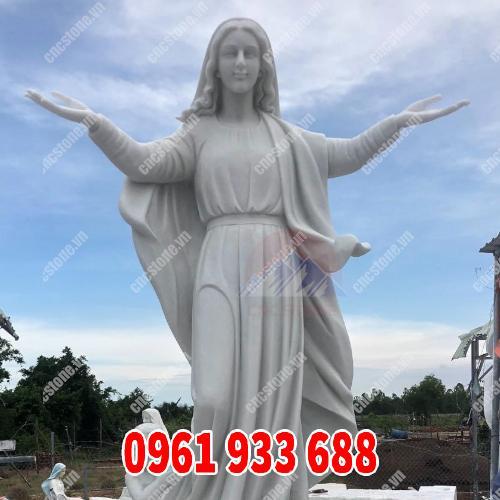 tượng đức mẹ maria ban ơn đẹp tại CNC Stone