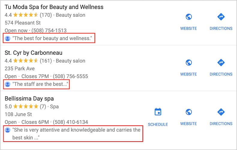 Nội dung đánh giá của bạn rất quan trọng vì nó có thể xếp hạng trên google trong gói địa phương.