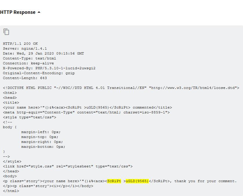 example cross-site scripting
