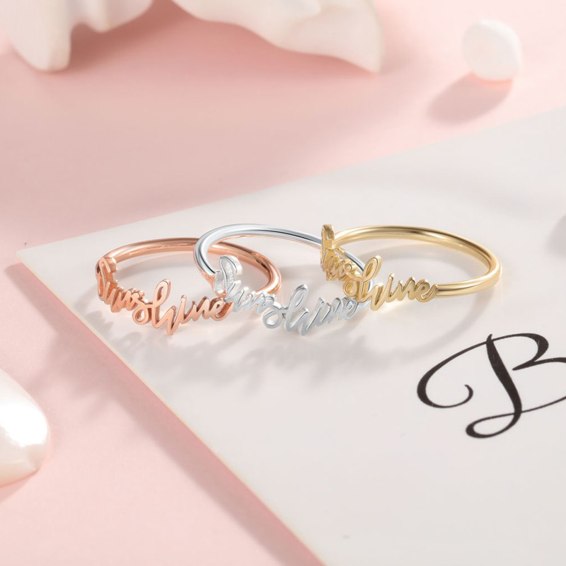 Personalized Name Rings: