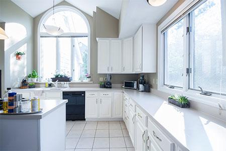 make kitchen feel larger