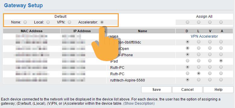 VPN Accelerator Setup