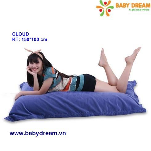 Hạt xốp gối lười BabyDream dễ dàng di chuyển ôm sát cơ thể người dùng