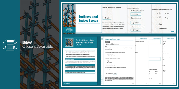 A Level Online Resources: Indices and Index Laws