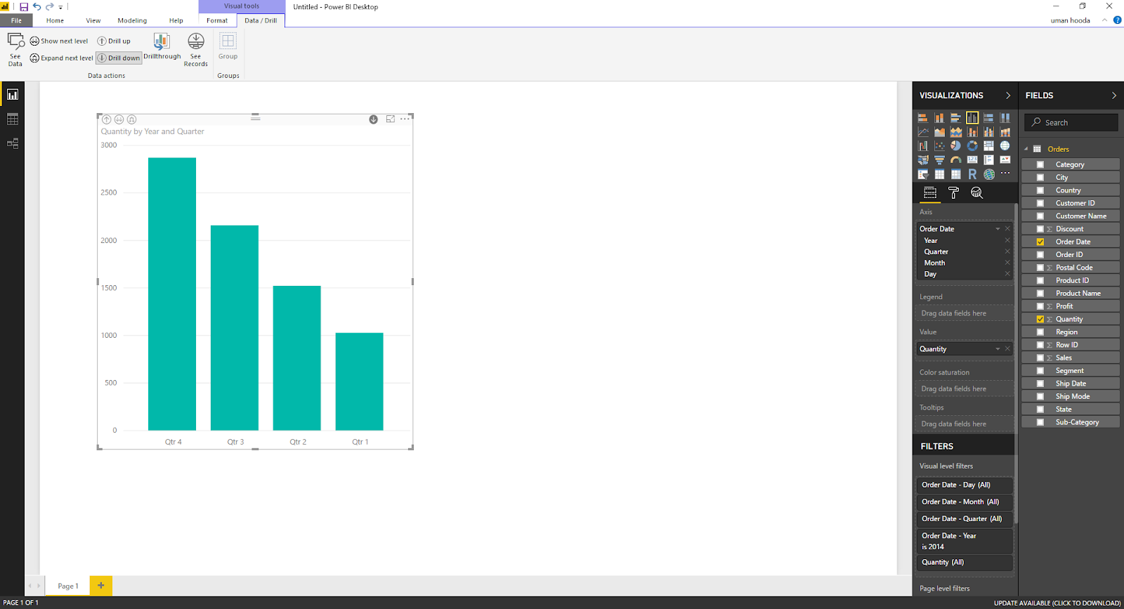 Drill In / Out on Your Data For Different Dates In Microsoft Power BI 33