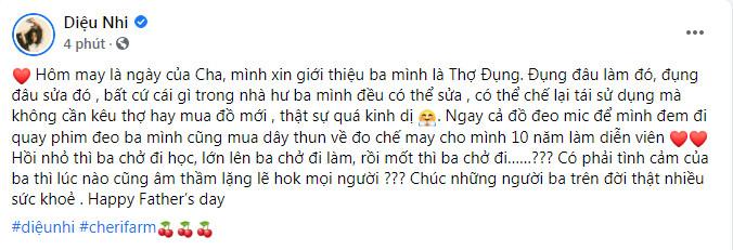 Sao Việt đồng loạt chia sẻ, gửi lời chúc ý nghĩa nhân Ngày của Cha Ảnh 8