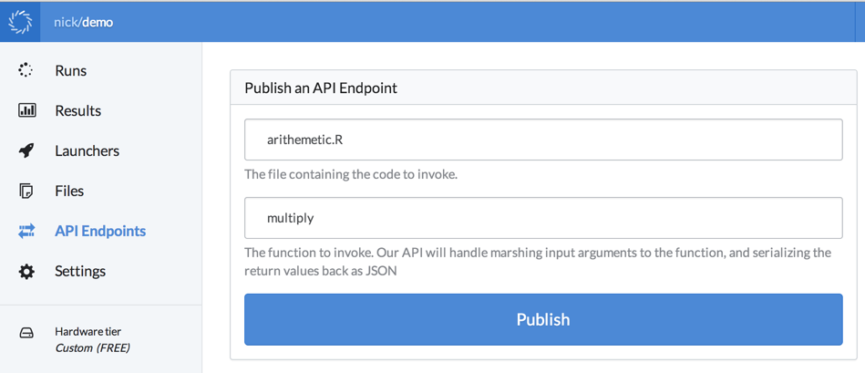 Integrating R with production systems using an HTTP API