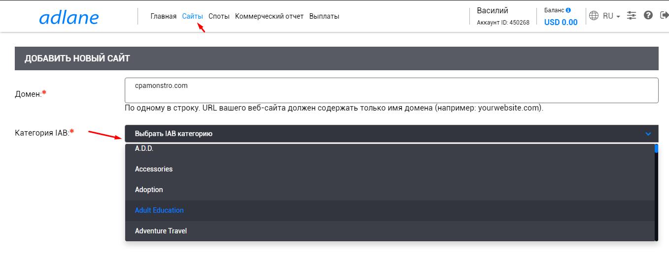 Монетизация сайтов без санкций: обзор рекламной платформы Adlane