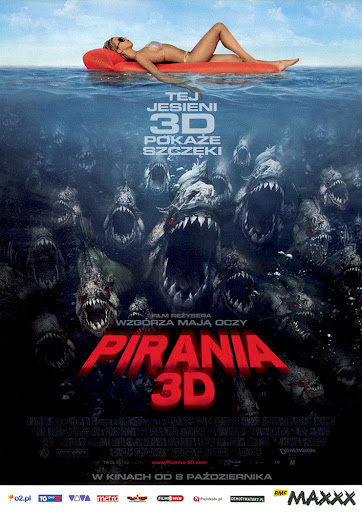 Przód ulotki filmu 'Pirania 3D'