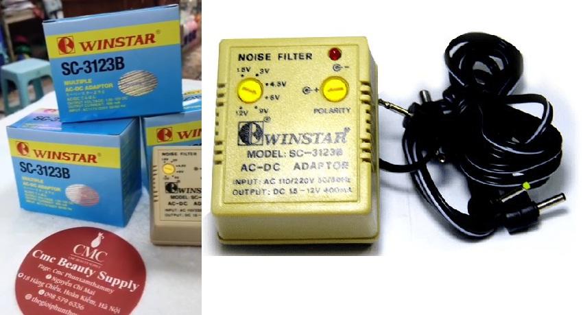 Adapter winstar AC - DC nhiều đầu ra SC-3123B - Giải pháp giúp máy xăm hoạt động ổn định