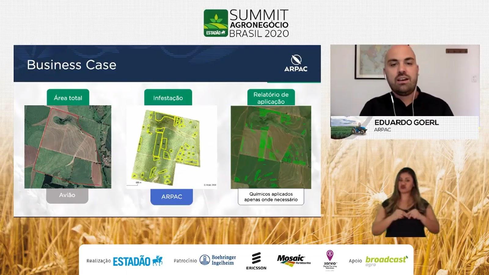 Drones permitem aplicação de insumos com alta precisão e custo acessível para pequenos e médios produtores. (Fonte: Summit Agro 2020/Reprodução)