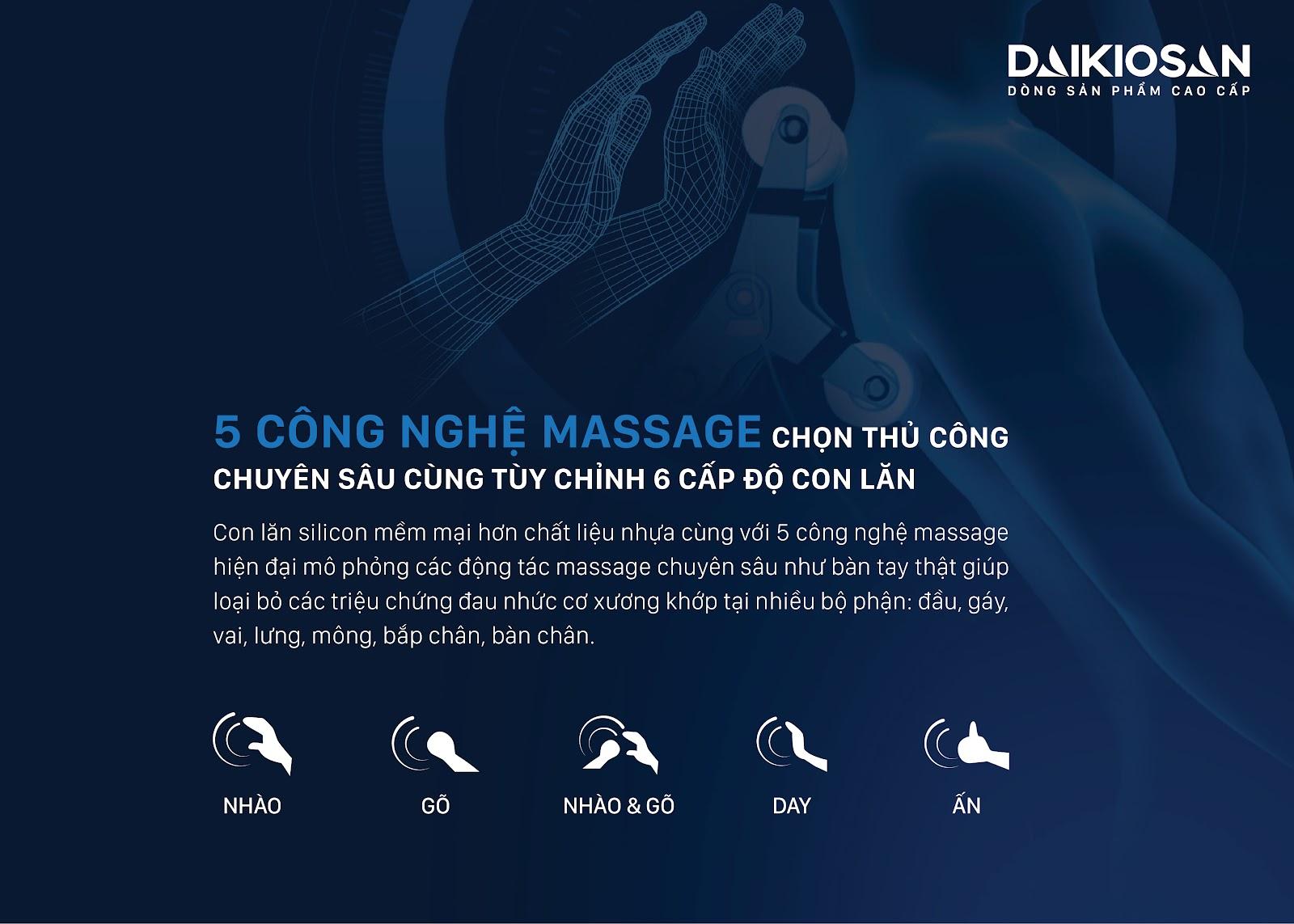 ghế massage 5 chế độ massage mang đến cảm giác thoải mái