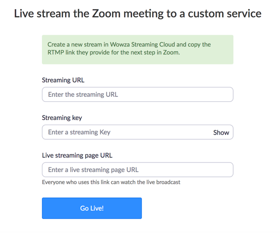 Broadcasting Zoom to a Custom Live Streaming Service