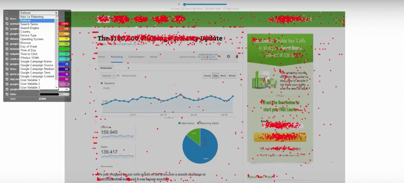 Quicksprout Confetti report
