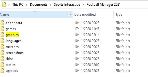 Football Manager 2021 game directory