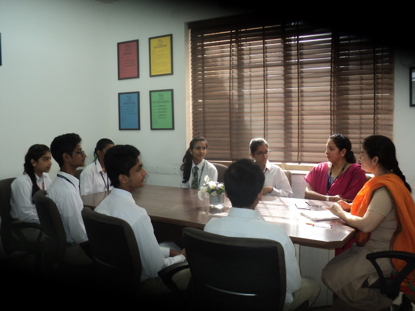 Principal-student council nominee meeting.JPG