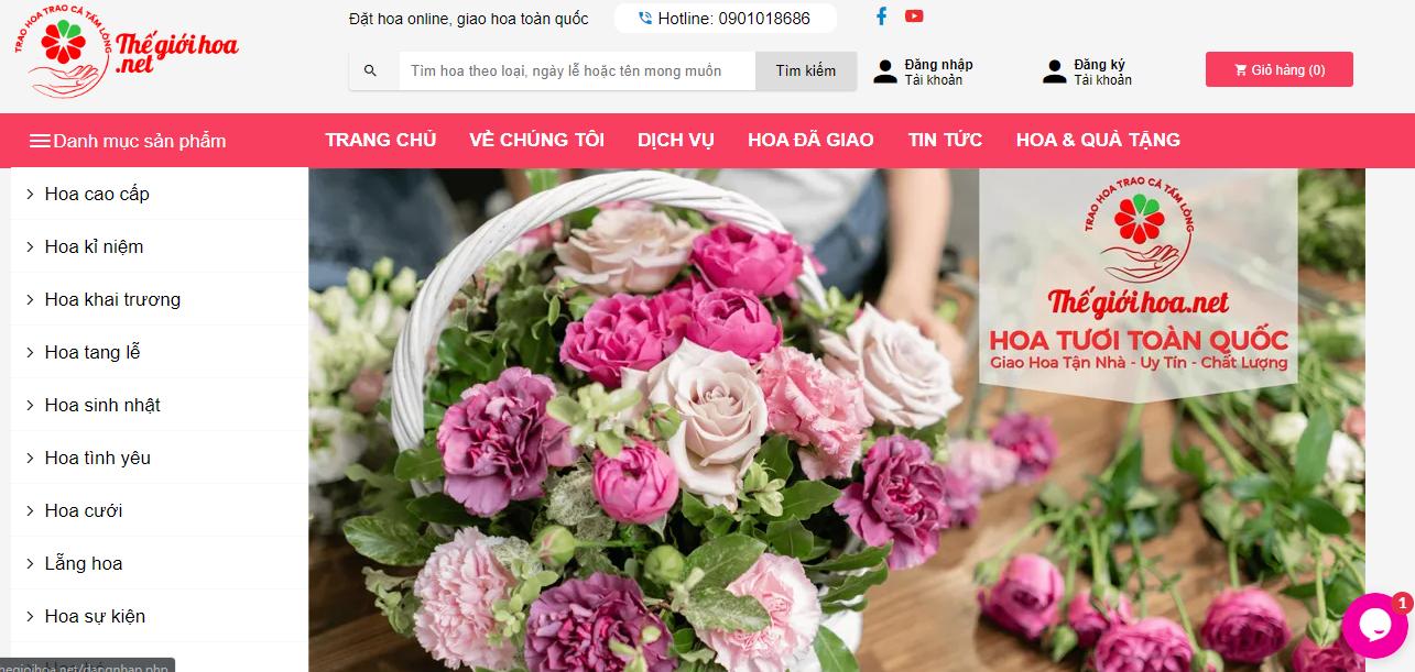Cửa hàng trực tuyến của Thế giới hoa