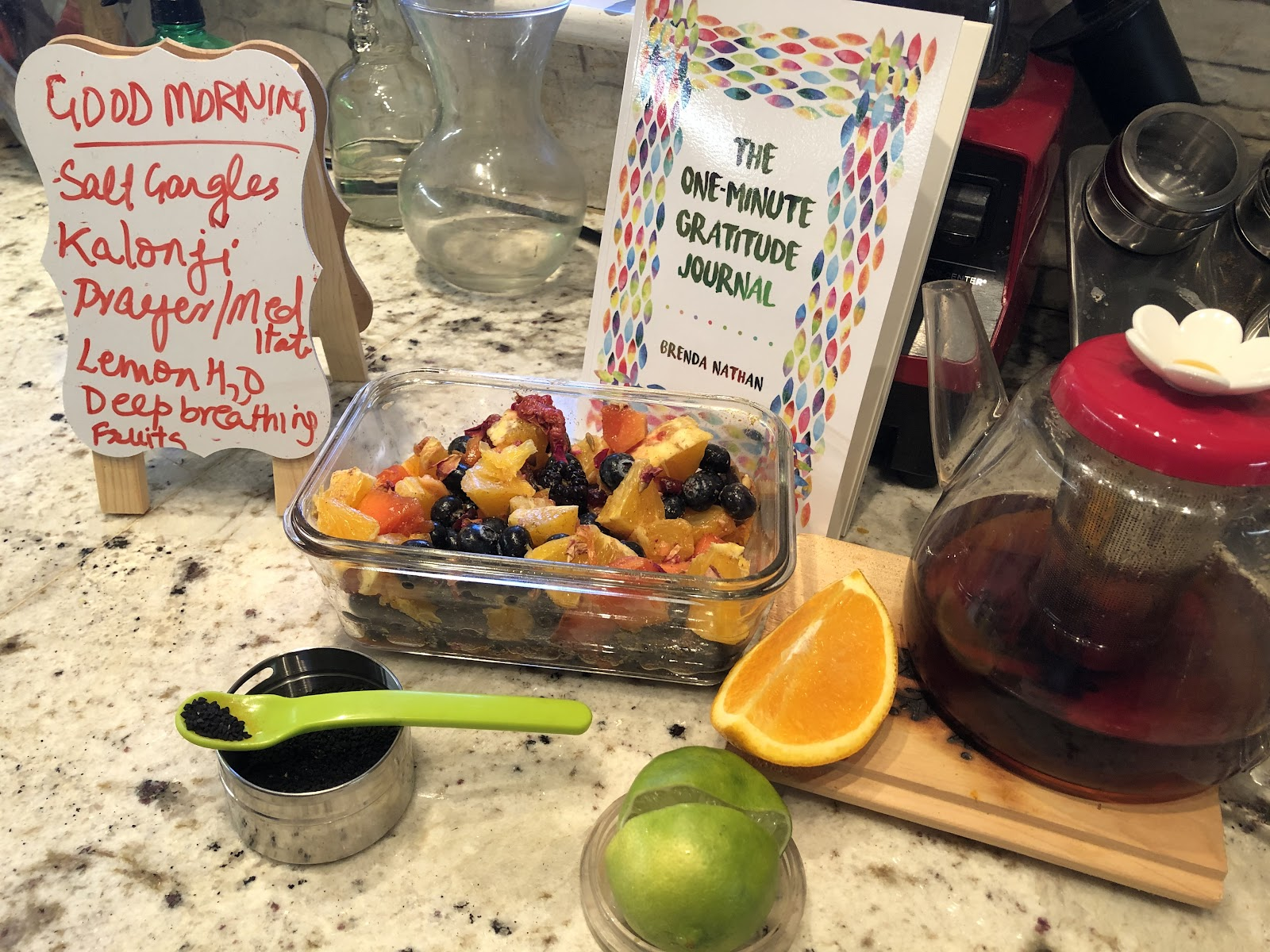 Healthy recipes in display