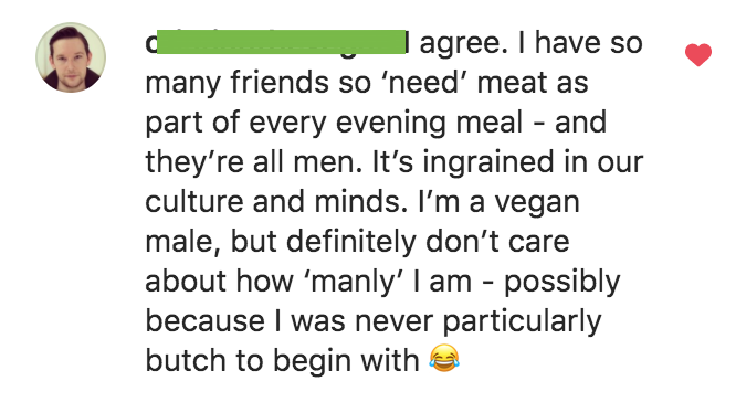 Vegan men are as manly as meat eaters