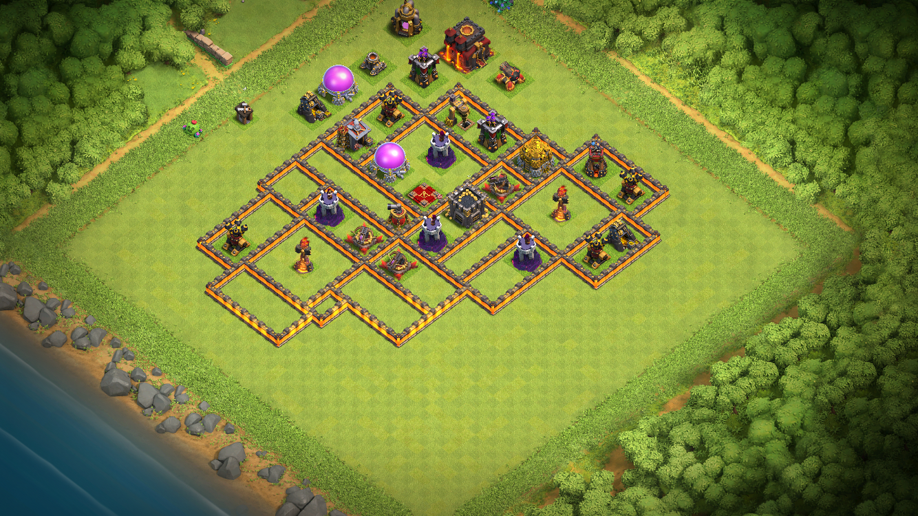 Air defense wizard tower and x-bow placement