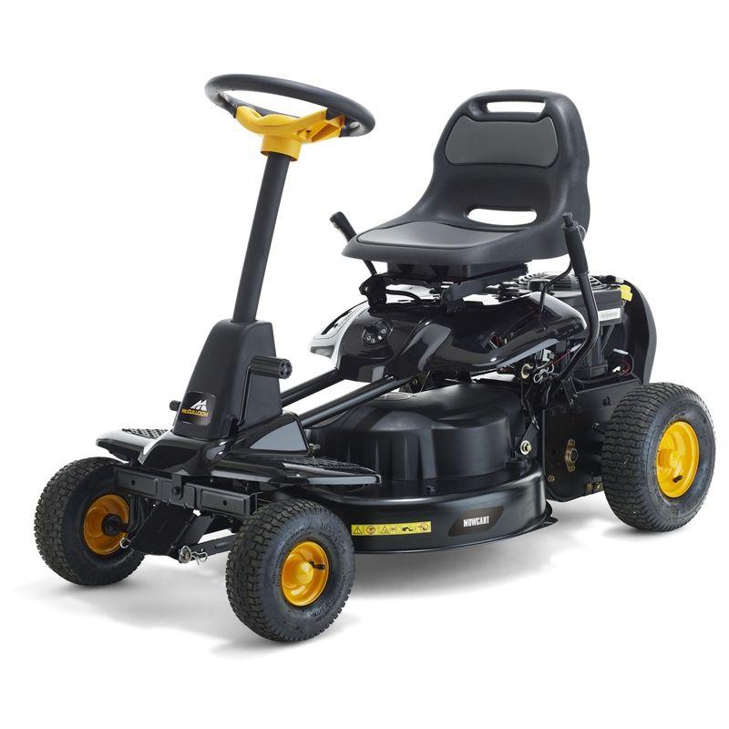 black lawn mower
