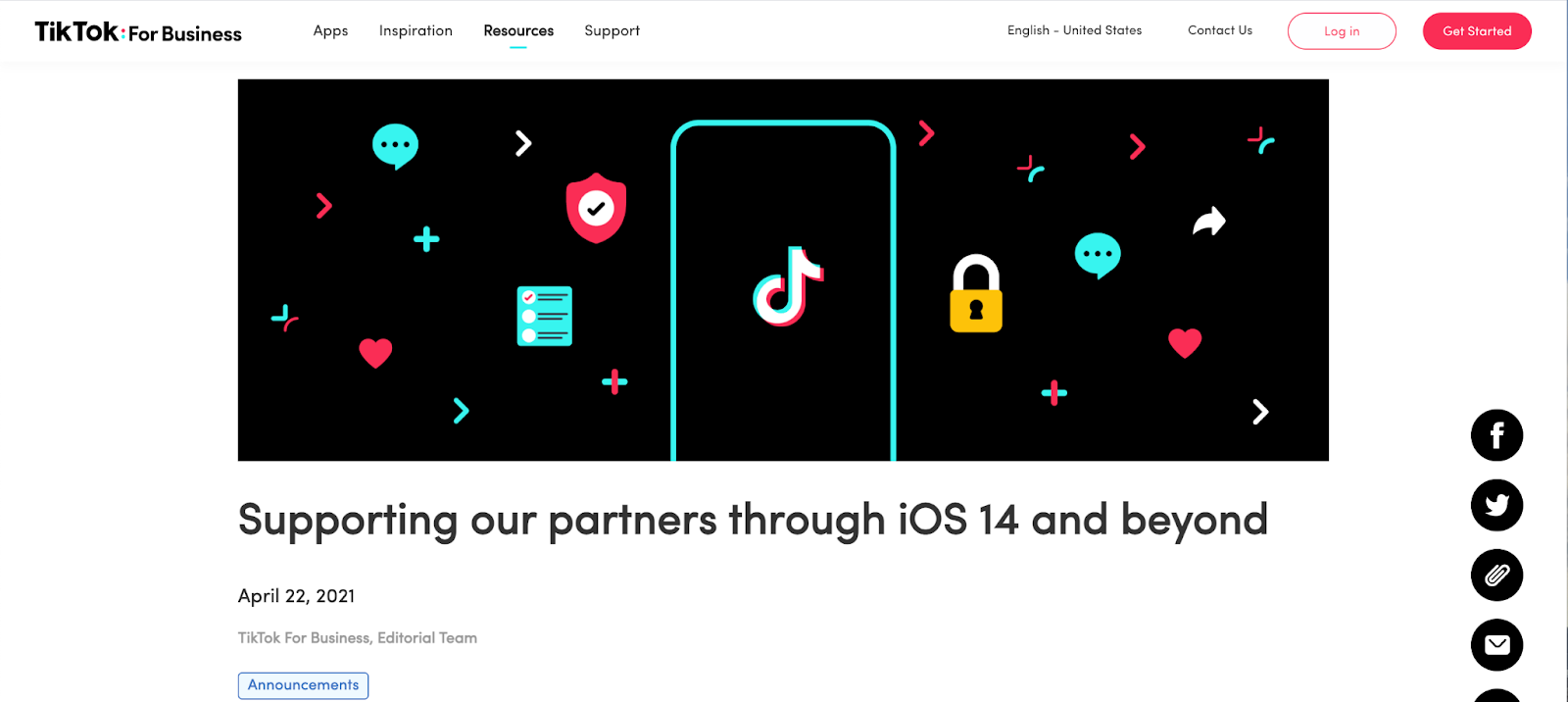 TikTok promises to support their partners as things are changing