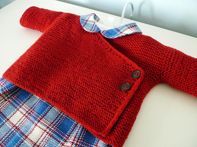 Free Baby Projects: Garter Stitch Baby Kimono Jacket