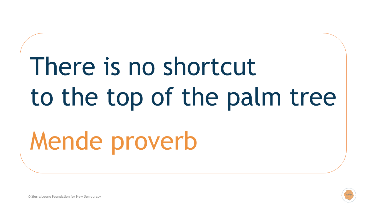 There is no shortcut to the top of the palm tree
