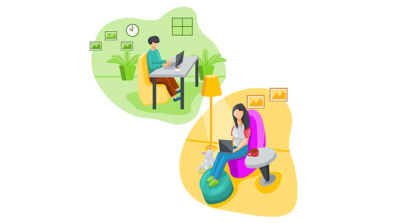 Encouraging non-work interactions helps people operate efficiently from a remote setting.