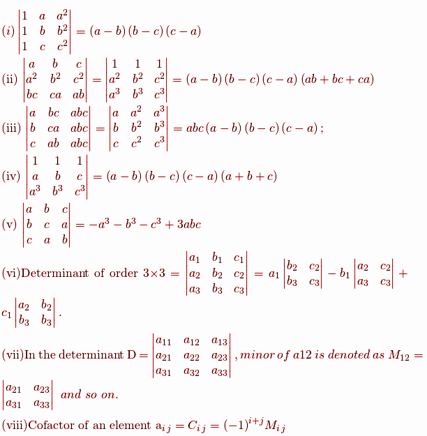 standard determinants