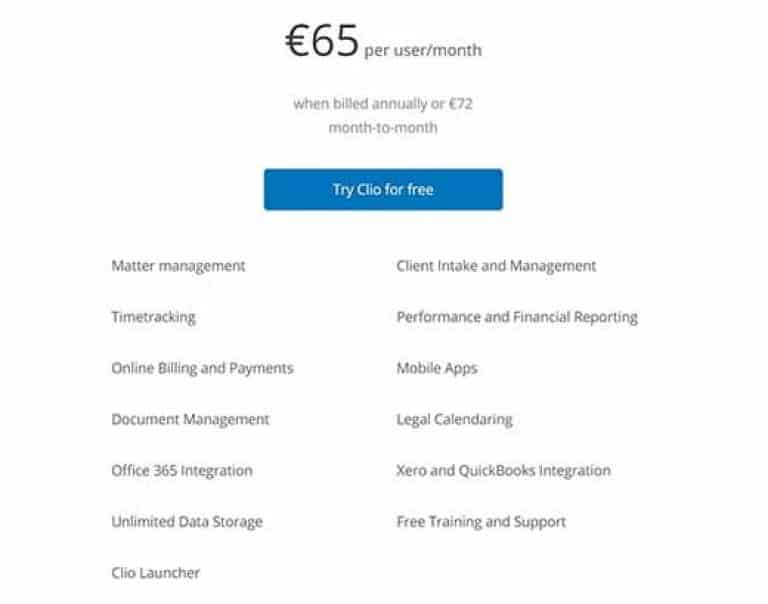 Clio Pricing Review